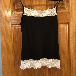 simple cami with lace.